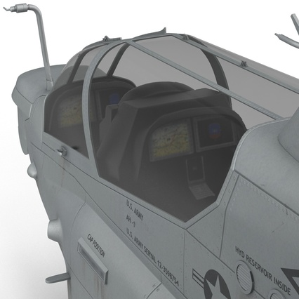 Attack Helicopter Bell AH 1Z Viper Rigged. Render 57