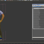 Construction Worker Black Uniform Standing Pose. Preview 20
