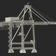 Container Crane Blue. Preview 4