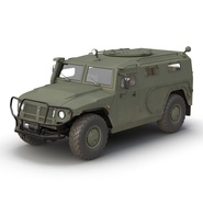 Russian Mobility Vehicle GAZ Tigr M Rigged. Preview 9