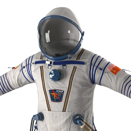 Russian Space Suit Sokol KV2 Rigged. Render 28