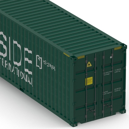 40 ft High Cube Container Green. Render 21