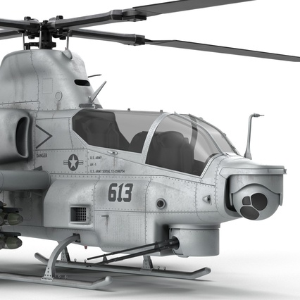 Attack Helicopter Bell AH 1Z Viper Rigged. Render 46