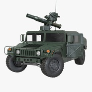 HMMWV TOW Missile Carrier M966 Rigged