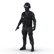 SWAT Man Mediterranean Rigged for Cinema 4D. Preview 5