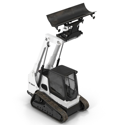 Compact Tracked Loader Bobcat With Blade. Render 17