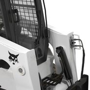 Compact Tracked Loader Bobcat With Blade Rigged. Preview 32