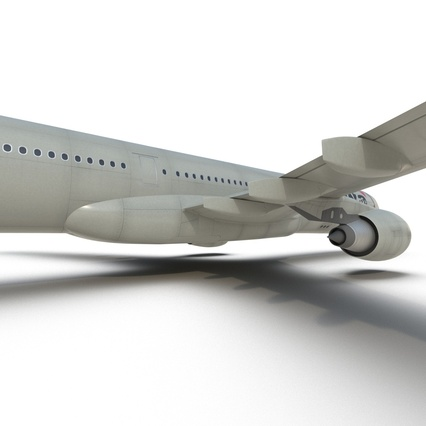 Jet Airliner Airbus A330-300 Northwest Airlines Rigged. Render 42