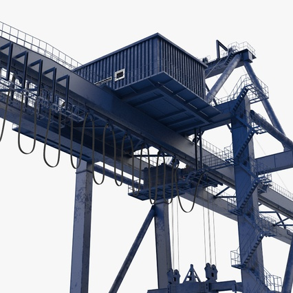 Container Crane Blue. Render 17