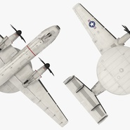 Grumman E-2 Hawkeye Tactical Early Warning Aircraft Rigged. Preview 12