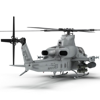 Attack Helicopter Bell AH 1Z Viper Rigged. Render 34