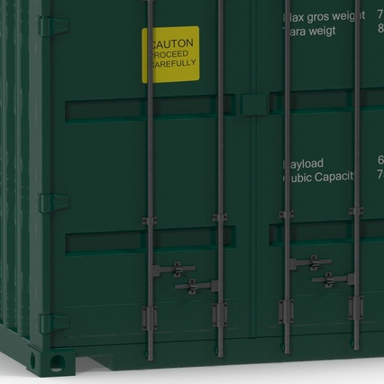 40 ft High Cube Container Green. Render 23