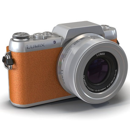 Panasonic DMC GF7 Brown. Render 2