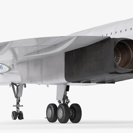Concorde Supersonic Passenger Jet Airliner British Airways Rigged. Render 18