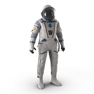 Russian Space Suit Sokol KV2 Rigged. Preview 2