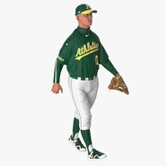 Baseball Player Rigged Athletics for Cinema 4D. Preview 4