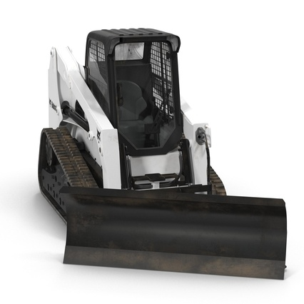 Compact Tracked Loader Bobcat With Blade Rigged. Render 10