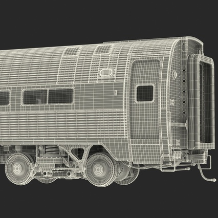 Railroad Amtrak Passenger Car 2. Render 66