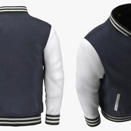 Blue Baseball Jacket. Preview 5