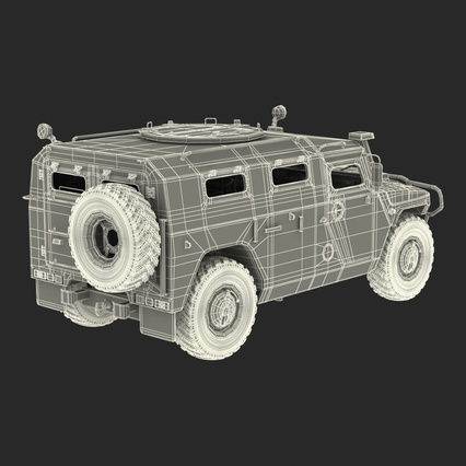 Russian Mobility Vehicle GAZ Tigr M Rigged. Render 75