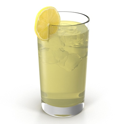glass of lemonade 3d model