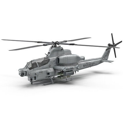Attack Helicopter Bell AH 1Z Viper Rigged. Render 2