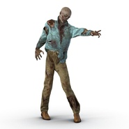 Zombie Rigged for Cinema 4D. Preview 13