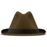 Fedora Hat Brown. Preview 6