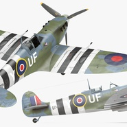 Royal Air Force Fighter Supermarine Spitfire LF Mk IX Rigged. Preview 11