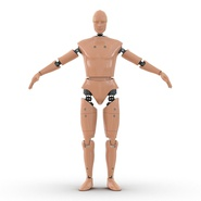 Male Crash Test Dummy Rigged for Cinema 4D. Preview 2