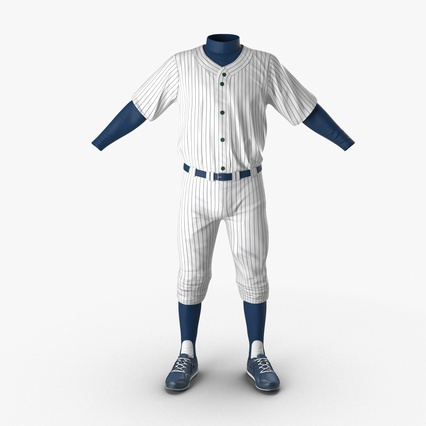 Baseball Player Outfit Generic 8. Render 5