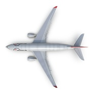 Jet Airliner Airbus A330-200 Northwest Airlines Rigged. Preview 16