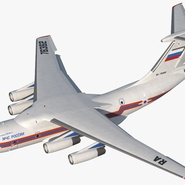 Ilyushin Il-76 Emergency Russian Air Force Rigged. Preview 2