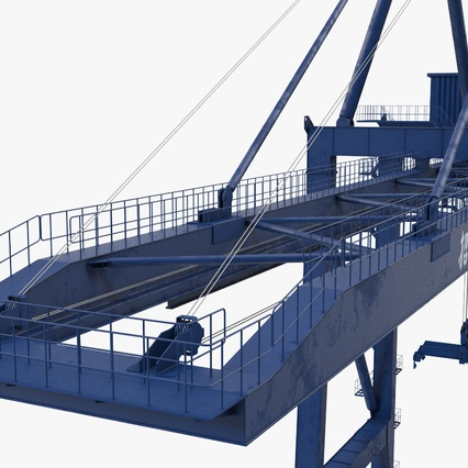 Container Crane Blue. Render 22