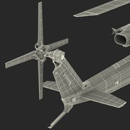 Attack Helicopter Bell AH 1Z Viper Rigged. Preview 114