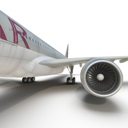 Jet Airliner Airbus A330-300 Qatar Rigged. Preview 46