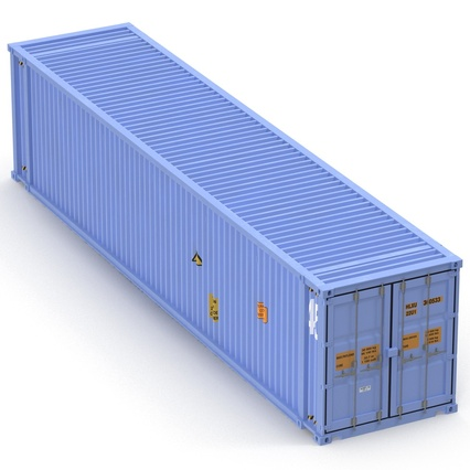 45 ft High Cube Container Blue. Render 12