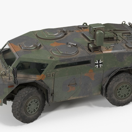 Fennek German Reconnaissance Vehicle Rigged. Render 8