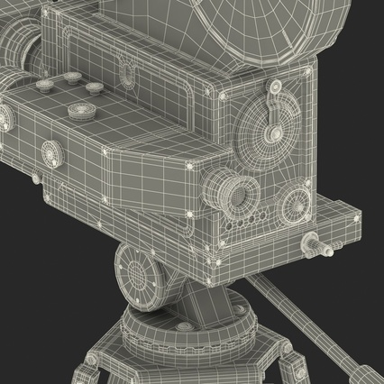 Vintage Video Camera and Tripod. Render 52