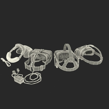 Virtual Reality Goggles Collection. Render 98