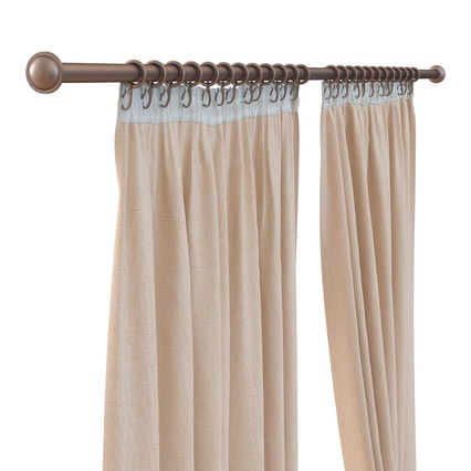 Curtains Collection. Render 21