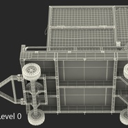 Airport Transport Trailer Low Bed Platform with Container Rigged. Preview 27