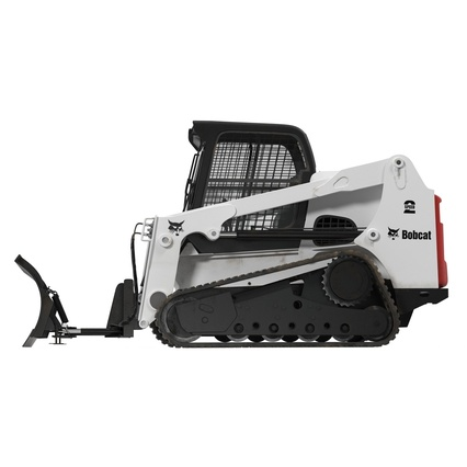 Compact Tracked Loader Bobcat With Blade Rigged. Render 16