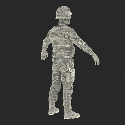 SWAT Man Mediterranean Rigged for Maya. Render 51