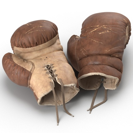 Old Leather Boxing Glove(1). Render 21