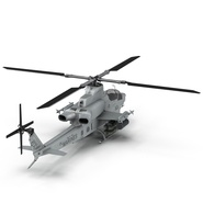 Attack Helicopter Bell AH 1Z Viper Rigged. Preview 25