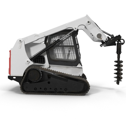 Compact Tracked Loader with Auger. Render 8
