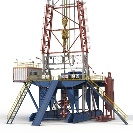 Fracking Gas Platform. Render 18