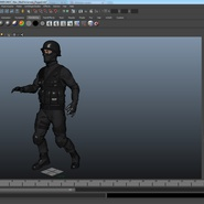 SWAT Man Mediterranean Rigged for Maya. Preview 44