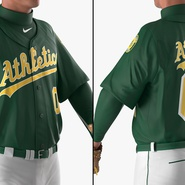 Baseball Player Rigged Athletics for Cinema 4D. Preview 12